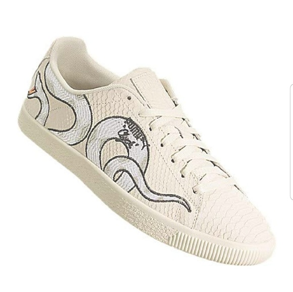 buy online cbb9b b7236 Puma Clyde snake embroidery Sneakers